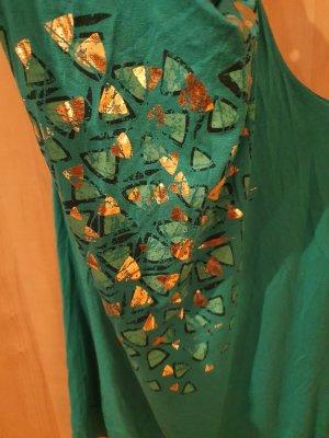 H&M Top estilo halter color oro-verde