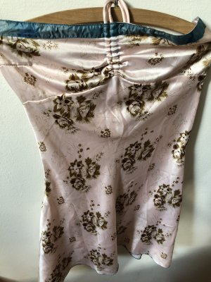 Robe bustier or rose