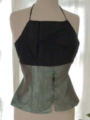 Backless Top multicolored silk