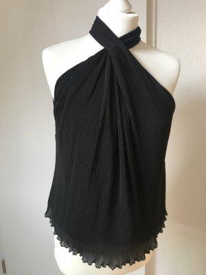 Neckholder Bluse schwarz