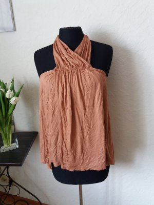 H&M Backless Top bronze-colored viscose
