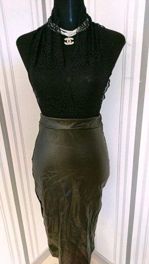 Vestido de cuello Halter negro tejido mezclado