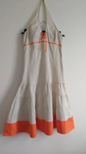 Neckholder Kleid Beige/orange