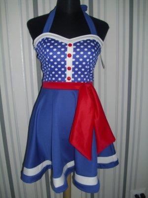 Neckholder Kleid blau Größe XS