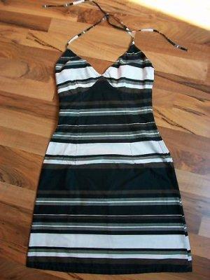 Neckholder Kleid gestreift Strandkleid Freizeitkleid