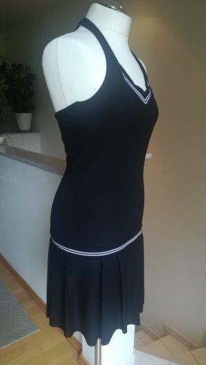 Amisu Halter Dress white-black mixture fibre