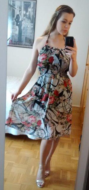 Neckholder Kleid Gr. S 36 38 sexy floral sexy sommer blogger trend rückenfrei