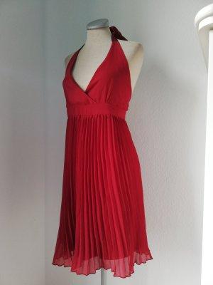 Neckholder Kleid Minikleid kurz plissiert Gr. 42 Gina Tricot