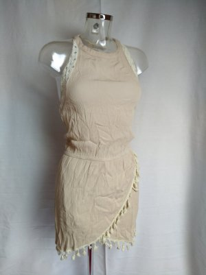 Miss Me Halter Dress nude-oatmeal