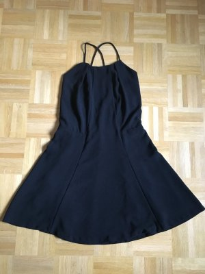 Zara Basic Halter Dress black polyester