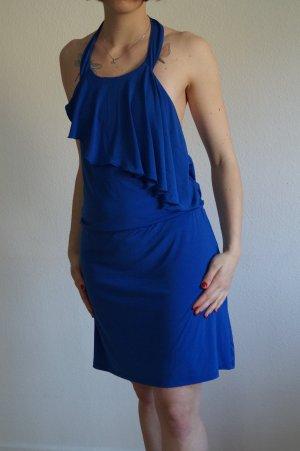 Neckholder Kleid mit Wasserfall Ausschnitt