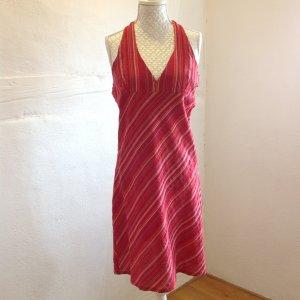 Neckholder-Kleid, rückenfrei in Rottönen in Gr. 38, 100% Baumwolle