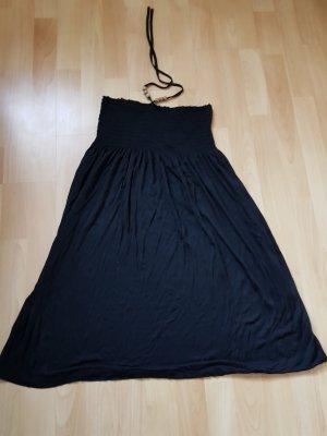 Neckholder Kleid Schwarz Gr 38