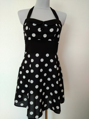 Halter Dress white-black