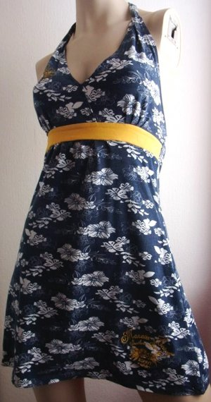 Neckholder Minikleid Strandkleid Neckholder Kleid Gr. 36