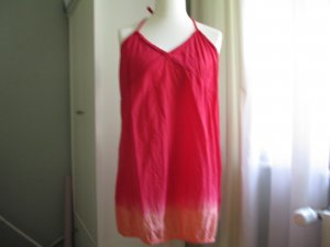 Backless Top neon red-red cotton