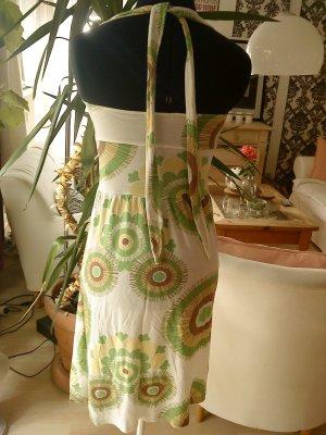 Neckholder Shirtkleid weiß/grün 36 Vero moda