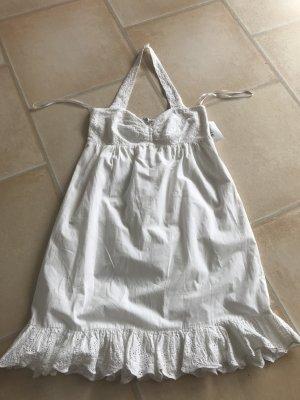 Apart Halter Dress white cotton