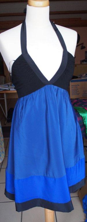 Only Halterjurk blauw-zwart Polyester