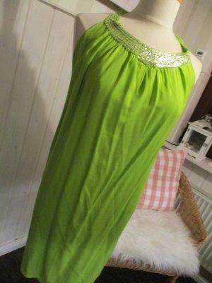 Vestido de cuello Halter verde-verde pradera Viscosa