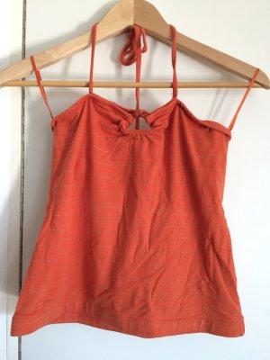 H&M Haltertop zandig bruin-oranje