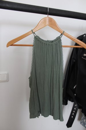 H&M Top senza maniche grigio-verde