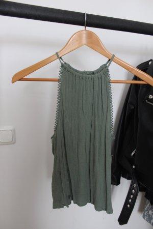 H&M Haltertop groen-grijs