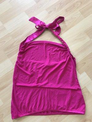Neckholder-Top pink, Größe M