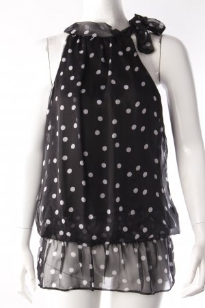 Halter top dotted black