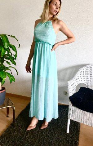 Neckholderkleid / Abendkleid / langes Kleid / Sommerkleid / türkis / blau