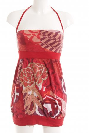 Halter Dress abstract pattern extravagant style