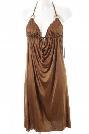 Halter Dress brown elegant