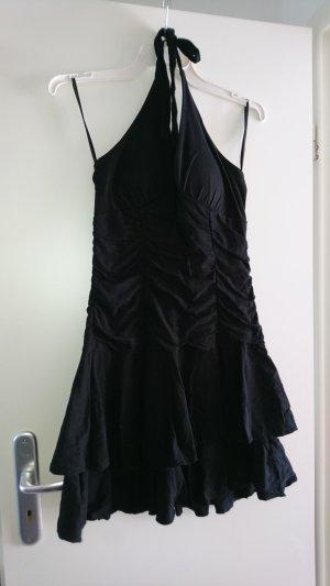 Flame Halter Dress black