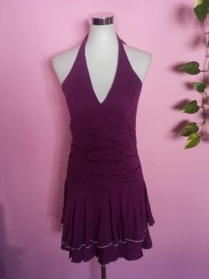 Neckholderkleid in violett (K1)