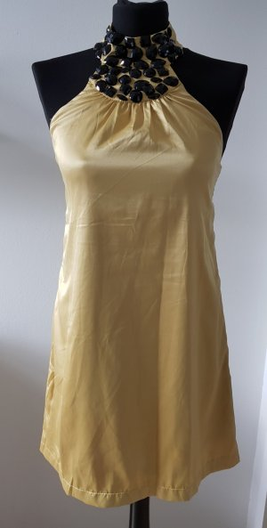 Halter Dress gold-colored
