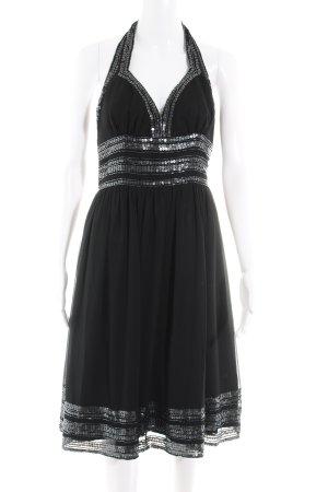 Vestido de cuello Halter negro elegante