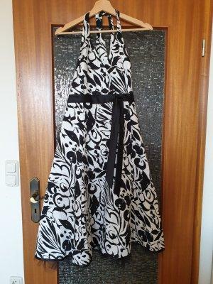 Neckholderkleid schwarz/weiß Gr.40
