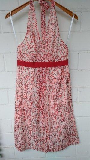 1.2.3 Paris Robe dos-nu blanc cassé-rouge