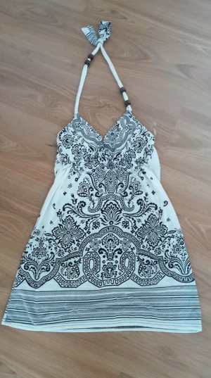 Halter Top white-black polyester