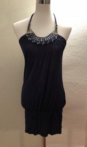 Neckholdertop Kleid mit Perlenkragen Größe M/L