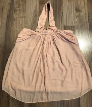 Zara Top senza maniche rosa pallido-rosa antico