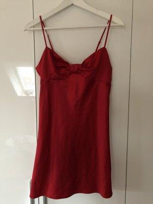 Negligé / Kleid rot aus Satin in Größe S