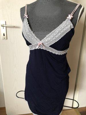 H&M Negligee dark blue-white