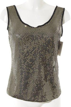 Négligé noir-doré motif de tache style mouillé