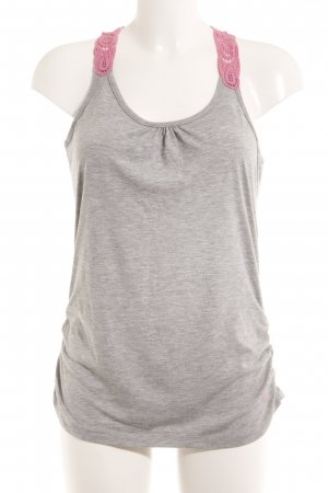 Neighborhood Tanktop hellgrau-rosa florales Muster Casual-Look