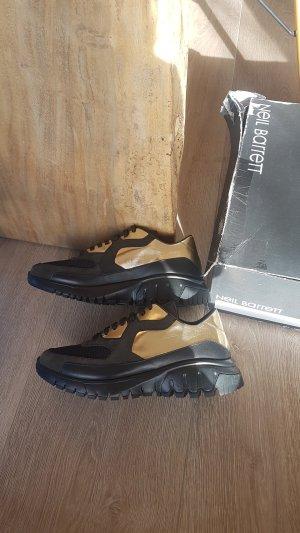 NEIL BARRETT dad sneaker plateau schwarz gold metallic NEU gr.37