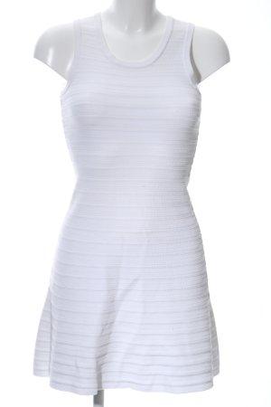 Neil Barrett Gebreide jurk wit gestreept patroon casual uitstraling
