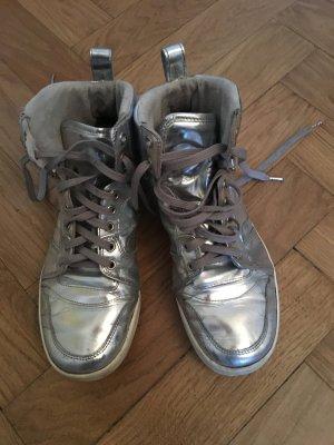 Neil Barrett x Puma Silber Metallic High Top Sneakers
