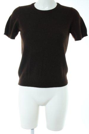 Neiman-Marcus Cashmere Jumper dark brown '90s style