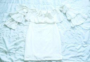 Vestido estilo flounce blanco